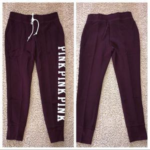 VS PINK Everyday Lounge Classic Pant Maroon NWOT